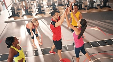 Fitness benefits for corporate employees